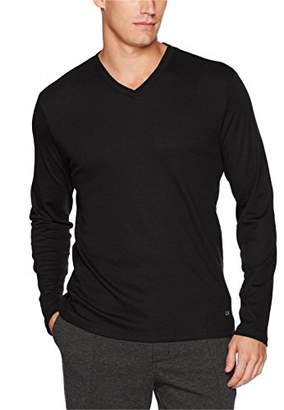 Calvin Klein Men's Long Sleeve Double Collar V-Neck Shirt