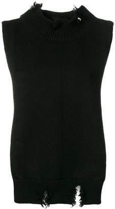 Maison Margiela knit top-style scarf
