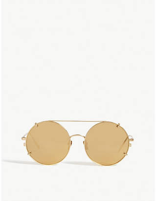 a185d526c99 at Selfridges · Linda Farrow LFL647 round sunglasses