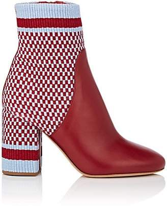ANTOLINA Women's Marta Cotton & Leather Ankle Boots - Red