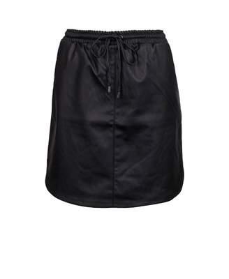 Saint Tropez Faux Leather Mini Skirt Colour: BLACK, Size: XS