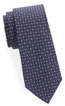 Saks Fifth Avenue Two-Tone Square Dot Silk Tie