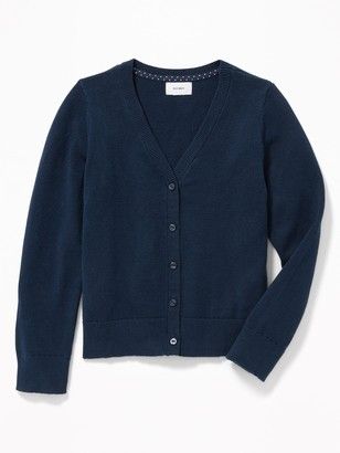 Old Navy Uniform V-Neck Button-Front Cardi for Girls