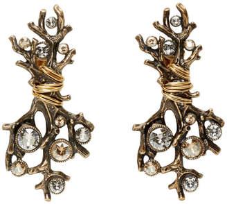 Lanvin Gold Branch Earrings