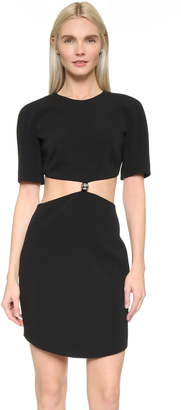 Mugler Short Sleeve Cutout Dress $1,680 thestylecure.com