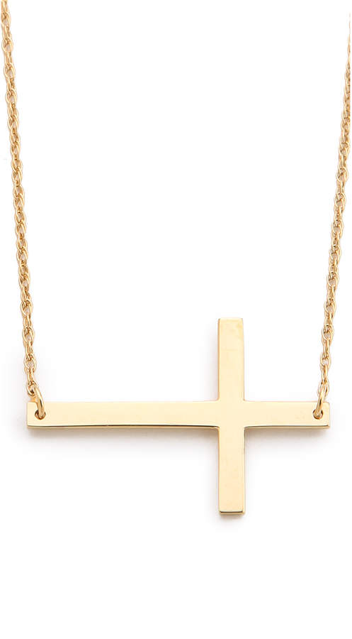Jennifer Zeuner Jewelry Horizontal Cross Necklace
