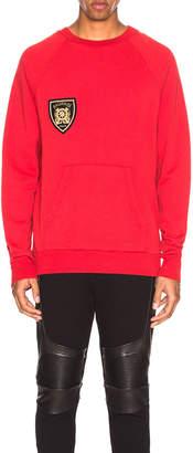 Balmain Raglan Sweatshirt with Zips