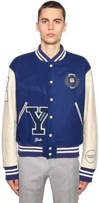 Calvin Klein University Virgin Wool Bomber Jacket