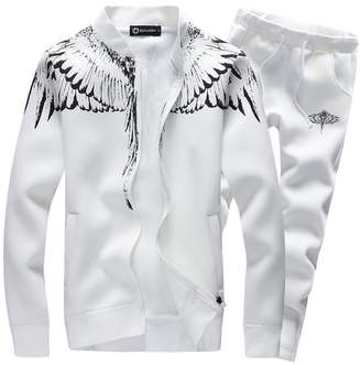 ASALI Mens Tracksuit Feather Wings Fashion Warm Up Jog Suit