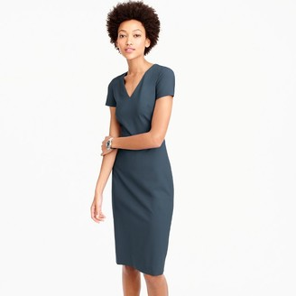 Cap-sleeve V-neck dress in Italian stretch wool $188 thestylecure.com