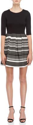 Hutch Sarah Striped Fit & Flare Dress