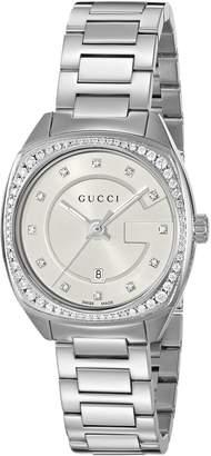Gucci Women's YA142505 Analog Display Swiss Quartz Silver Watch