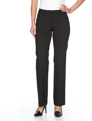 Women's Apt. 9® Torie Pinstriped Straight-Leg Dress Pants $48 thestylecure.com