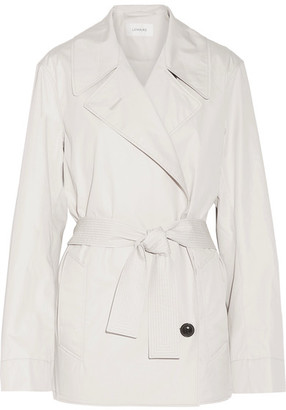 Cotton-blend Poplin Trench Coat - Light gray