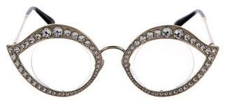 Gucci Crystal Cat-Eye Eyeglasses