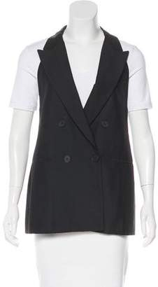 Stella McCartney Silk Peak-Lapel Vest