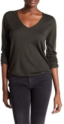 Zadig & Voltaire V-Neck Long Sleeve Merino Merino Wool Pullover $215 thestylecure.com