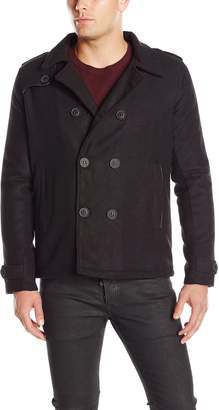 Brave Soul Men's Foreman Fashion Double Breasted Pea Coat