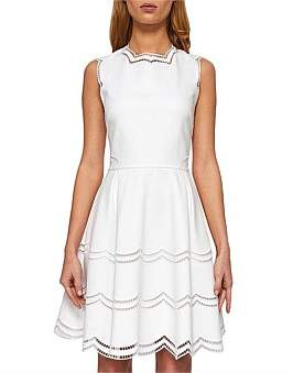Ted Baker Cammey Embroidered Tier Skater Dress