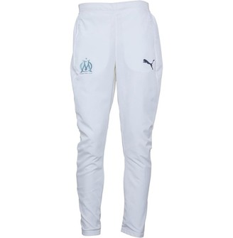 Mens Olympique Marseille Woven Track Pants White