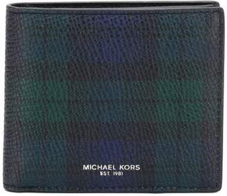 Michael Kors tartan print wallet