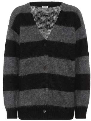 Miu Miu Striped mohair and wool cardigan