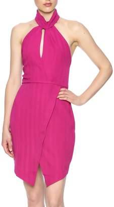 Lush Fuchsia Choker Dress