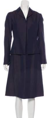 Agnona Notch-Lapel Midi Dress Set
