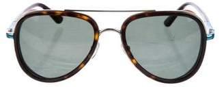 Etro Tortoiseshell Aviator Sunglasses