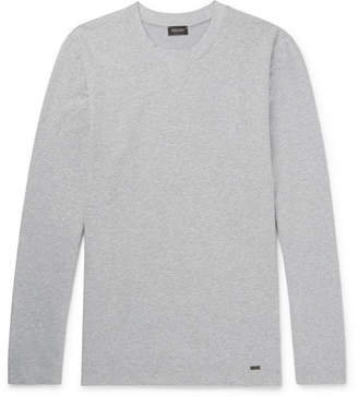 Hanro Mélange Stretch-Cotton Jersey Sweatshirt