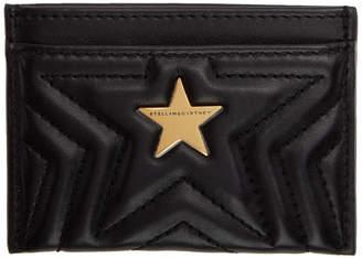 Stella McCartney Black Alter-Nappa Star Card Holder