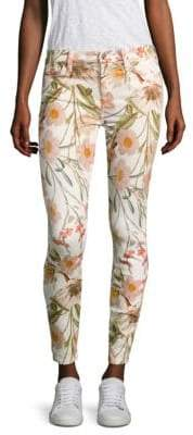 7 For All Mankind Tropical Printed Skinny Ankle Jeans