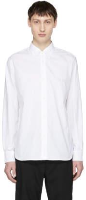 Comme des Garcons Homme White Logo Button-Down Shirt