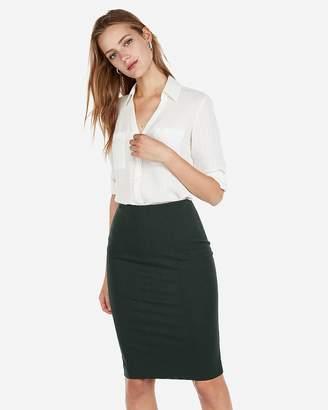 Express Petite Slim Fit Textured Portofino Shirt