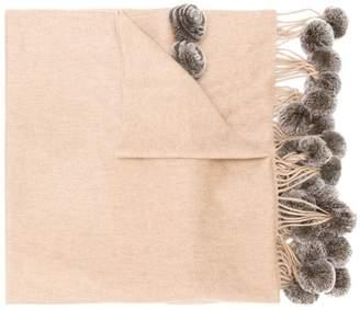 N.Peal Rex pom pom shawl