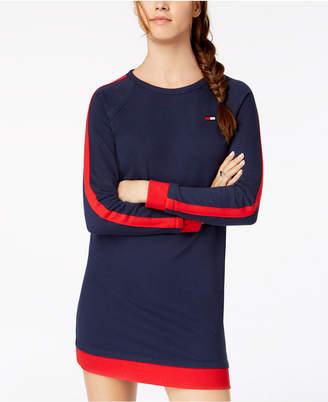 Tommy Hilfiger Racing-Stripe French Terry Sweatshirt Dress