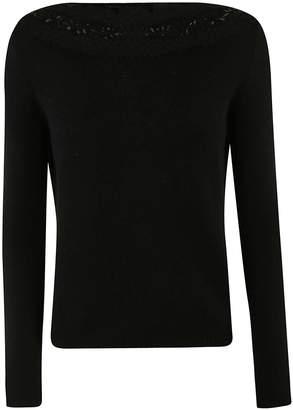 Ermanno Scervino Embellished Neck Sweater