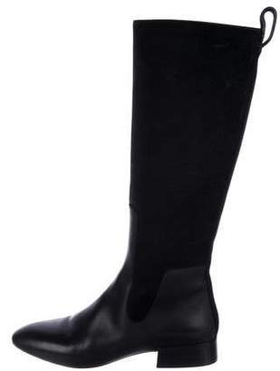 Chloé Leather & Suede Knee-High Boots