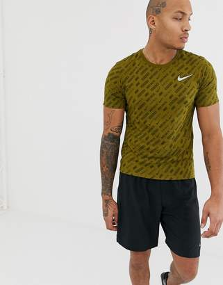Nike Running Just Do It All Over Print In Khaki AA9384-399