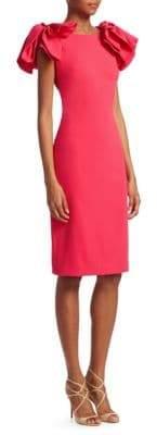 Badgley Mischka Shoulder Bow Dress
