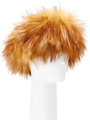 Adrienne Landau Fox Fur Headband, Camel