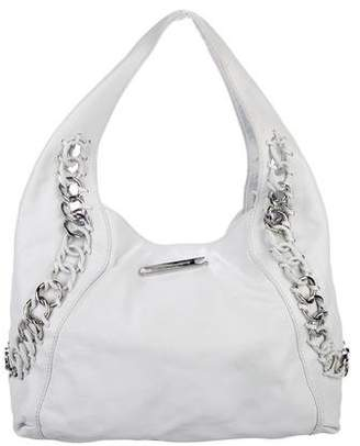 Pre Owned At Therealreal Michael Kors Leather Chain Link Hobo