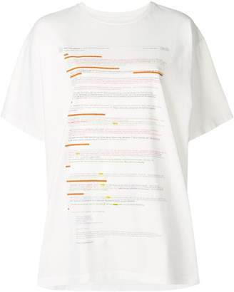 MM6 MAISON MARGIELA e-mail thread print T-shirt