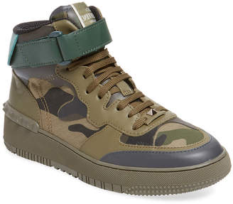 Valentino Padded Collar High-Top