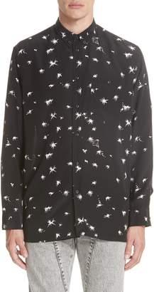 Givenchy Splatter Print Silk Shirt