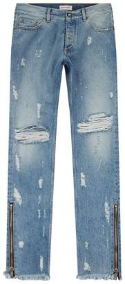 Palm Angels Skinny Knee Ripped Jeans