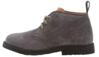 Santoni Boys' Suede Boots grey Boys' Suede Boots