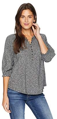Lucky Brand Women's Solid Henley TOP