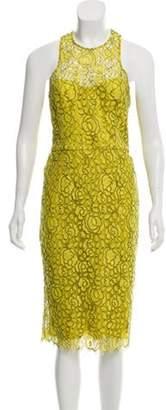 Lela Rose Lace Midi Dress Yellow Lace Midi Dress
