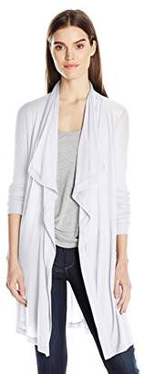 Three Dots Women's Drape Front Cardigan